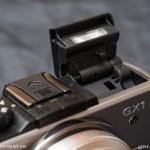 Panasonic GX1 - Pop-up flash locked in bounce position