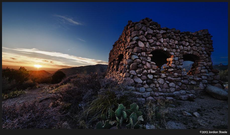 Stone Hut at Sunset, Albuquerque, NM - Panasonic GH2 with Panasonic 7-14mm f/4