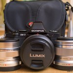 My Ultra-Light Kit: Olympus E-M5 with Olympus 12mm f/2 and 45mm f/1.8 and Leica 25mm f/1.4