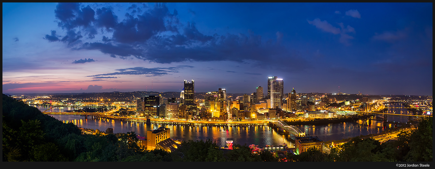 Pittsburgh, PA from Mount Washington - Olympus OM-D E-M5 with Olympus 12mm f/2
