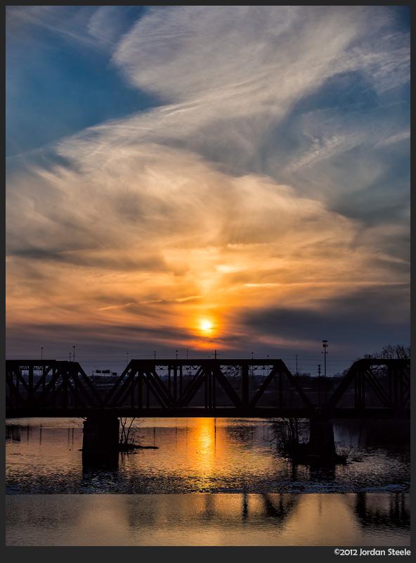 A Smoldering Sunset - Olympus OM-D E-M5 with Panasonic 35-100mm f/2.8 @ 35mm, f/5.6