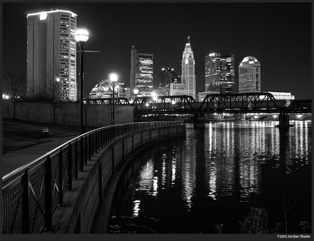 Columbus at Night - Olympus OM-D E-M5 with Sigma 19mm f/2.8 EX DN @ f/2.8