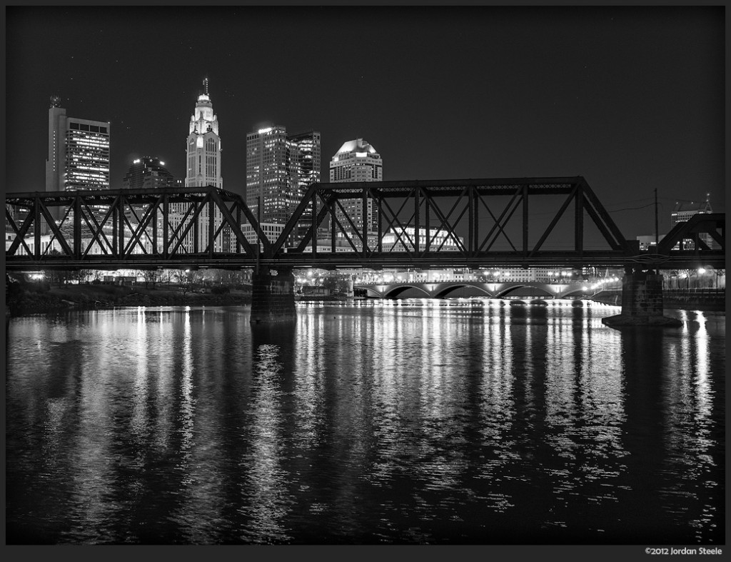 Columbus Reflected - Olympus OM-D E-M5 with Sigma 19mm f/2.8 EX DN @ f/2.8