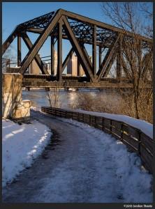 Icy Path - Olympus OM-D E-M5 with Sigma 19mm f/2.8 EX DN @ f/4