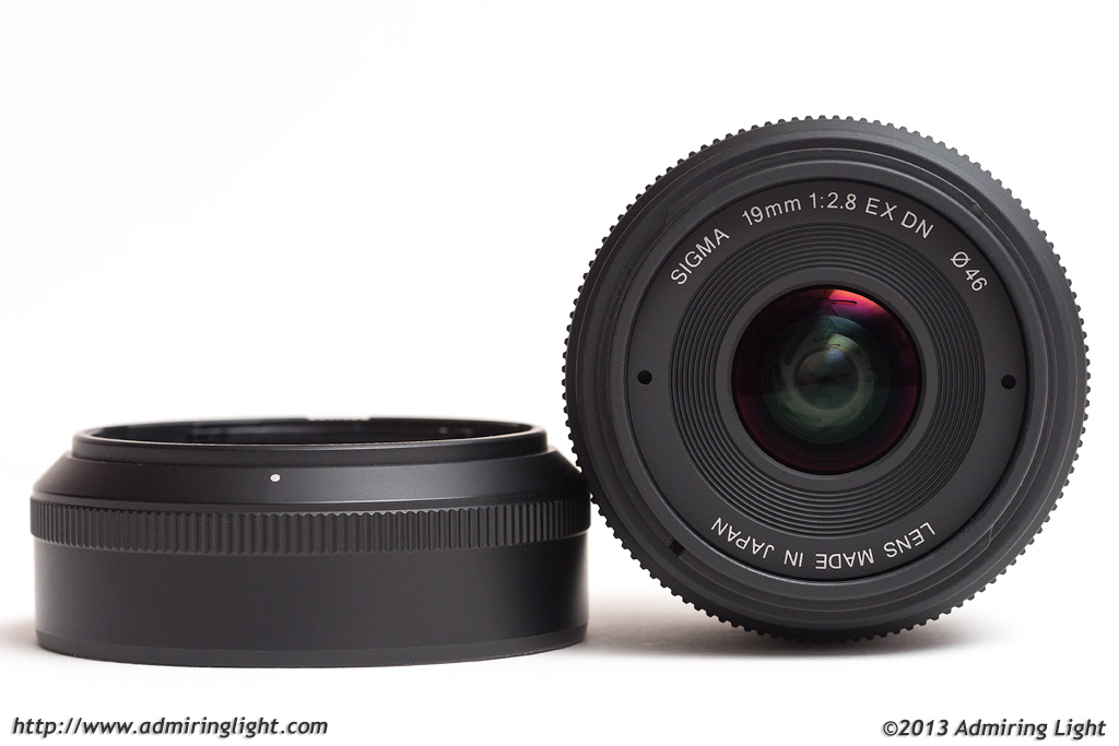 Sigma 19mm f/2.8 EX DN with hood
