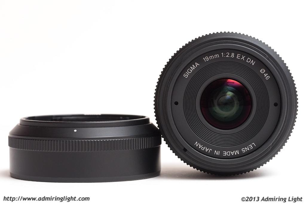 Sigma 19mm f/2.8 EX DN with hood