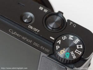 Sony RX100 - Top Controls