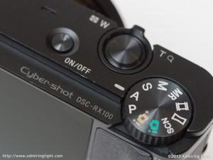 Sony RX100 - Top Controls