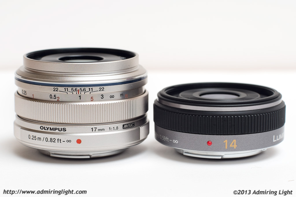 Olympus 17mm f/1.8 and Panasonic 14mm f/2.5