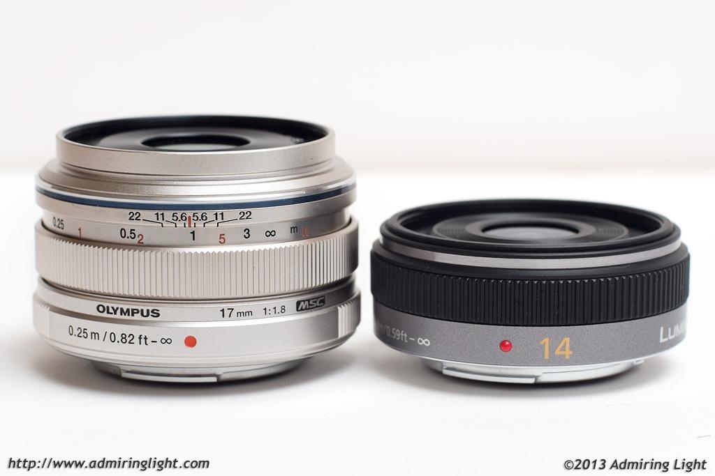 Olympus 17mm f/1.8 and Panasonic 14mm f/2.5