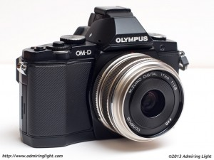 The 17mm mounted on the Olympus OM-D E-M5