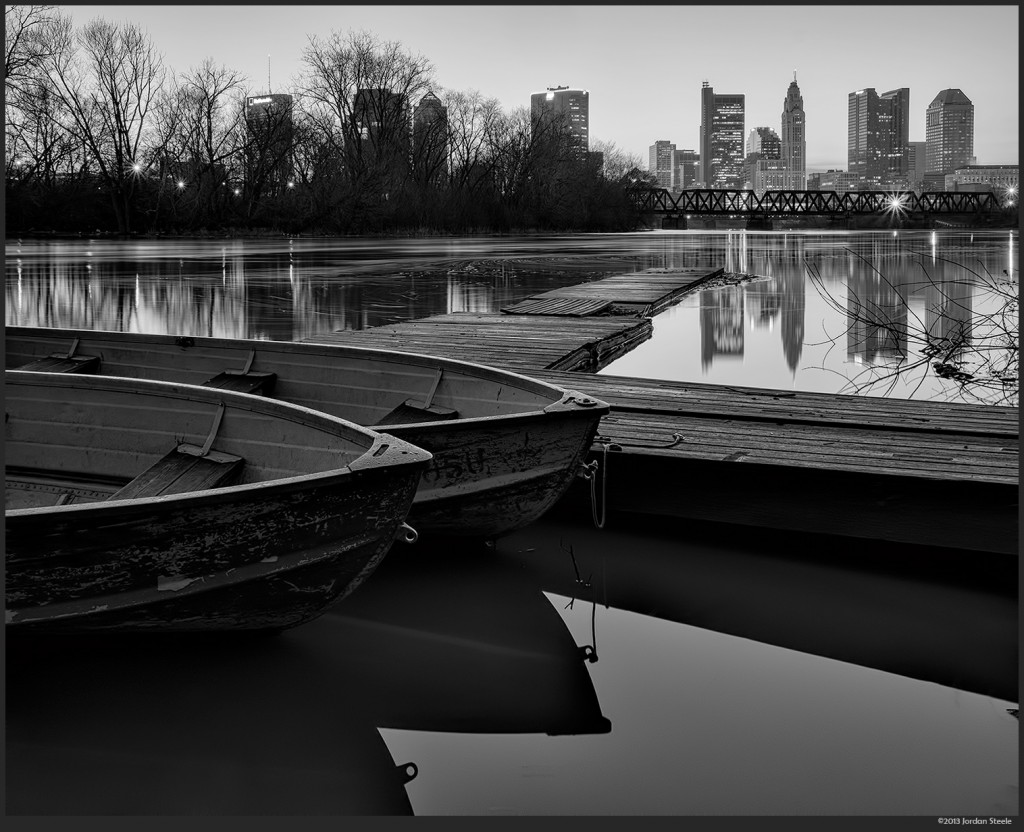 Dock Before Dawn, Columbus, OH - Fujifilm X-E1 with Fujinon XF 18-55mm f/2.8-4