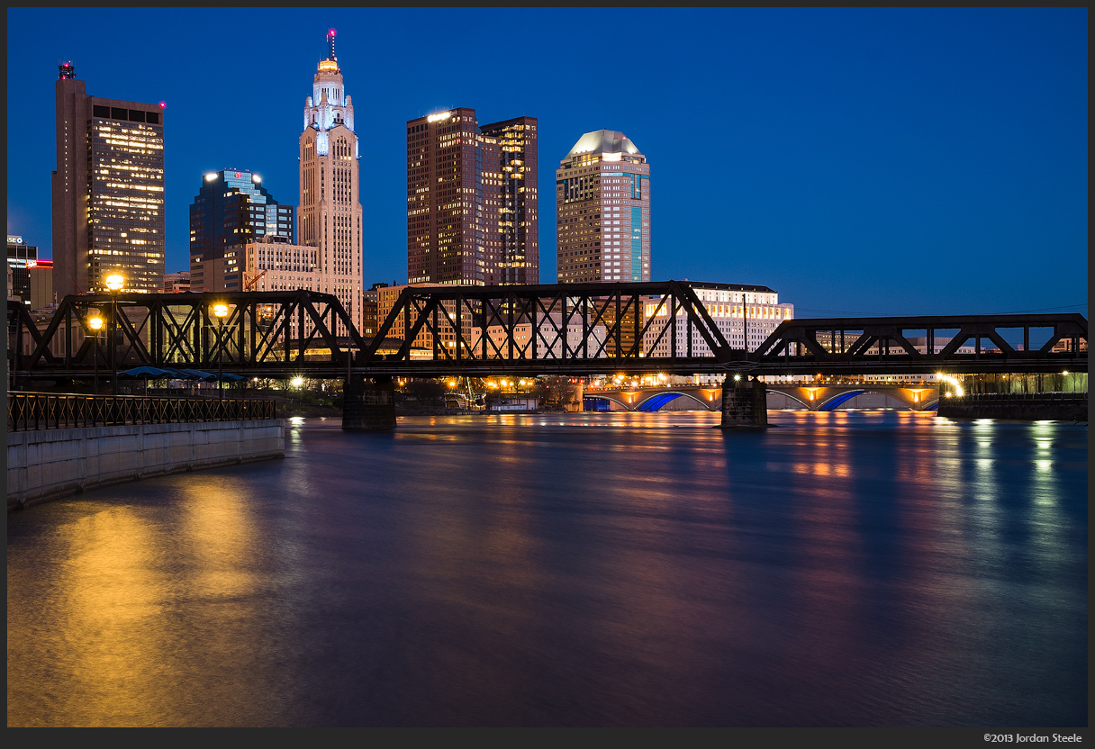 Before Dawn After Dusk on columbus ohio skyline