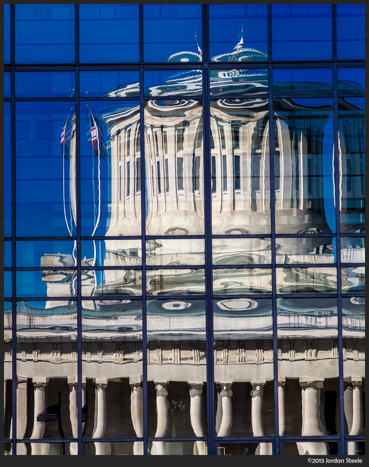 Ohio Statehouse Reflected -Fujifilm X-E1 with Carl Zeiss Sonnar 90mm f/2.8