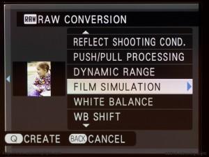 Fujifilm X-E1's in-camera RAW conversion