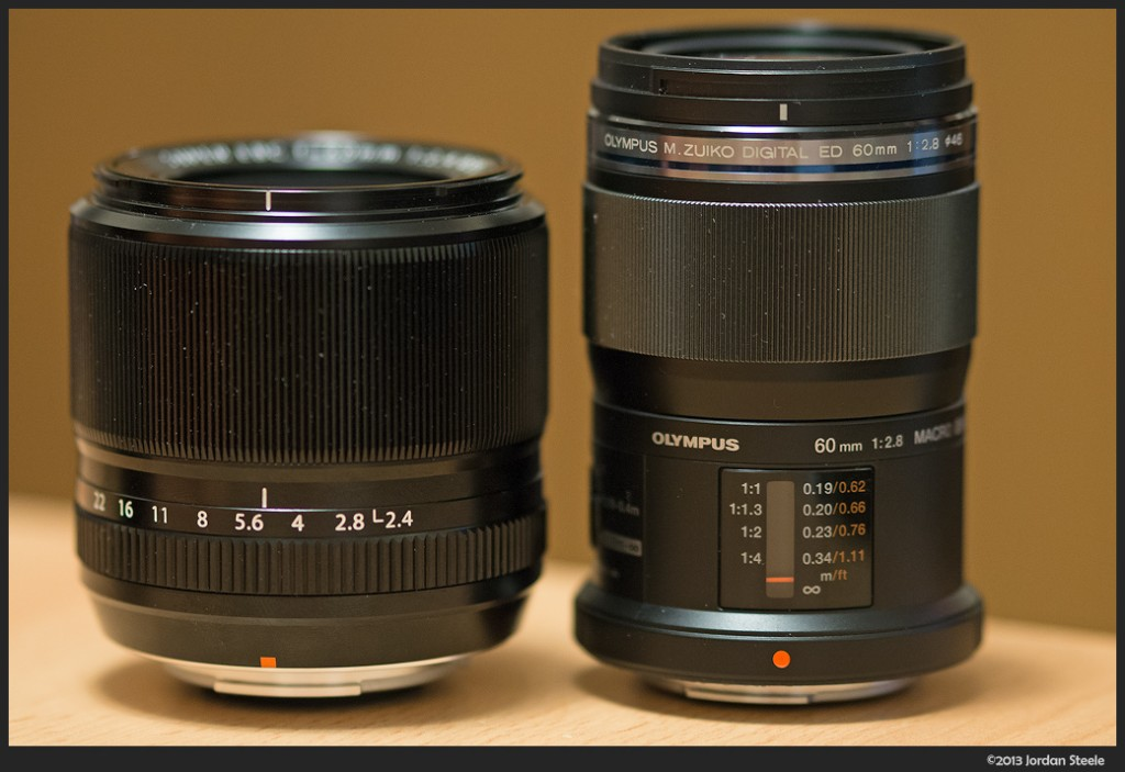Fujinon 60mm f/2.4 R Macro and Olympus 60mm f/2.8 Macro