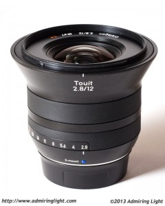 Zeiss Touit 12mm f/2.8 Distagon - without hood