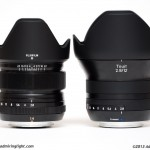 Fujinon 14mm f/2.8 (left), Zeiss 12mm f/2.8 (right)