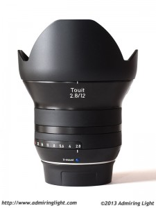 Zeiss Touit 12mm f/2.8 Distagon - with hood