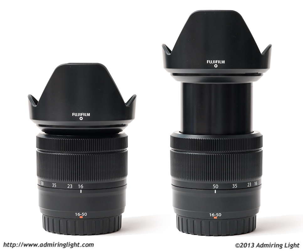 Fujinon XC 16-50mm at 16mm (left) and 50mm (right)