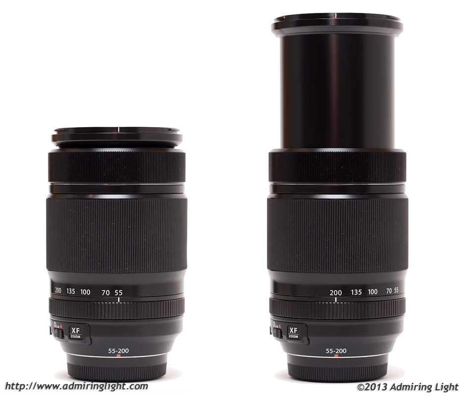 Fuji 55-200mm at 55mm (left) and 200mm (right)
