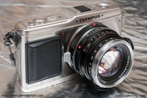 The Voigtlander 40mm f/1.4 (Leica M Mount) on an Olympus E-P1