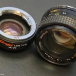 Lens Turbo with Minolta MC Rokkor 50mm f/1.4