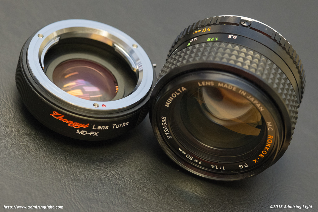 Lens Turbo with Minolta MC Rokkor 50mm f/1.4