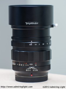 Voigländer Nokton 42.5mm f/0.95 with Hood