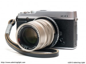 Fujifilm X-E1 with Carl Zeiss 90mm f/2.8 Sonnar (Contax G mount)