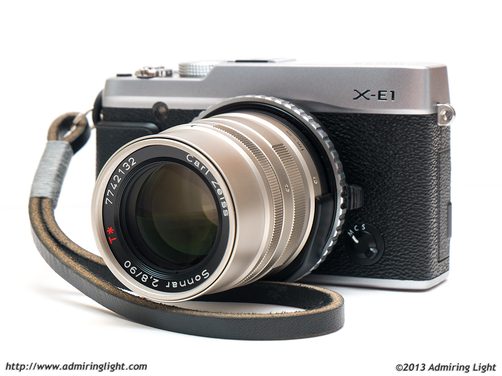 Fujifilm X-E1 with Carl Zeiss 90mm f/2.8 Sonnar (Contax G mount