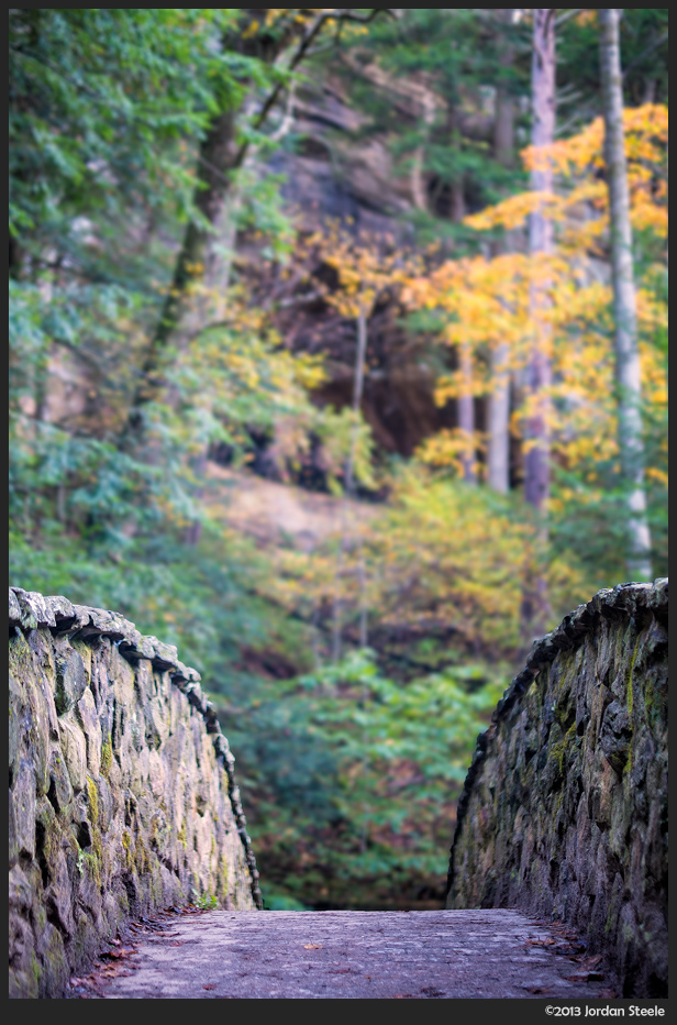Autumn Bridge - Hocking Hills State Park, OH - Fujifilm X-E1 with Fujinon XF 35mm f/1.4