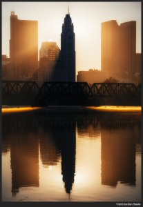 Sunrise Reflection - Panasonic GX7 with Olympus 75-300mm f/4.8-6.7 II