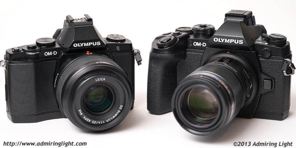 Two OM-Ds...the E-M5 on the left, and the E-M1 on the right
