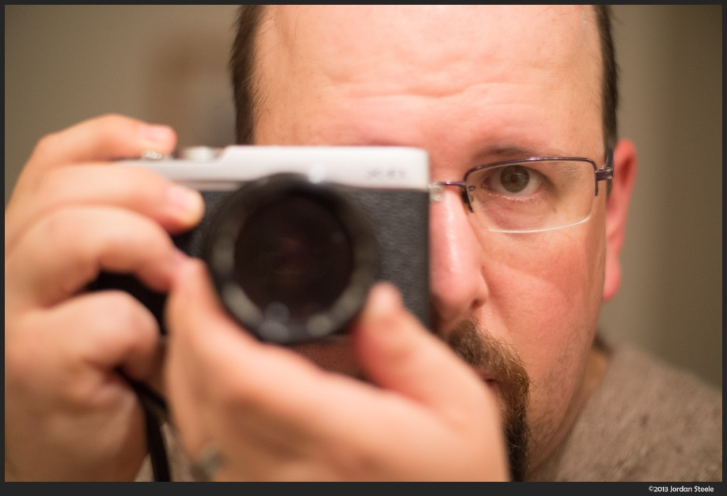 Self Portrait - Fujifilm X-E1 with Canon FD 85mm f/1.8 + Speed Booster @ 60mm, f/1.2