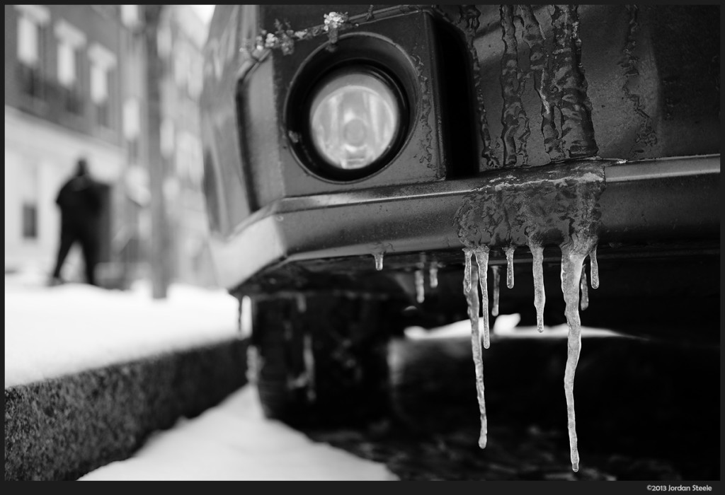 Car Icicles - Sony A7 with Zeiss FE 35mm f/2.8 Sonnar T* ZA @ f/2.8