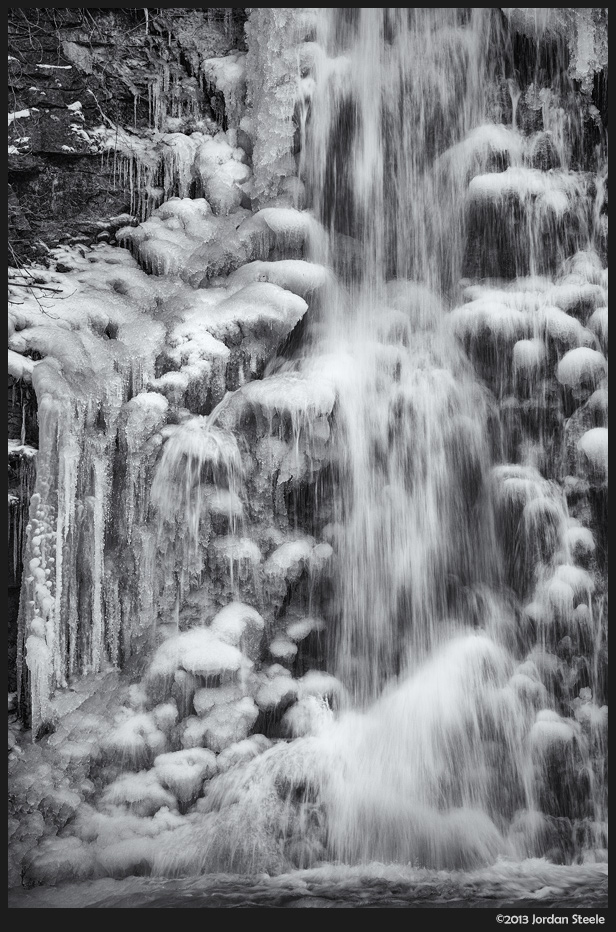 Icy Falls - Sony A7 with Canon FD 70-210mm f/4 @ ISO 125