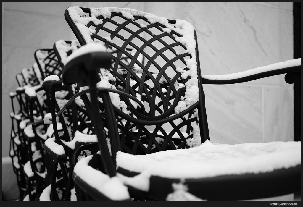 Snowy Chairs - Sony A7 with Zeiss FE 35mm f/2.8, ISO 200