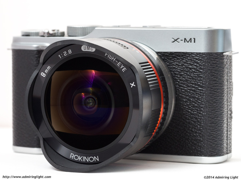 The Rokinon 8mm f/2.8 Fisheye, on the diminutive Fujifilm X-M1