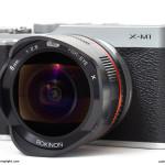 The Rokinon 8mm f/2.8 Fisheye, on the diminutive Fujifilm X-M1
