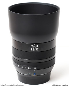 Zeiss Touit 32mm f/1.8 Planar T* with Lens Hood