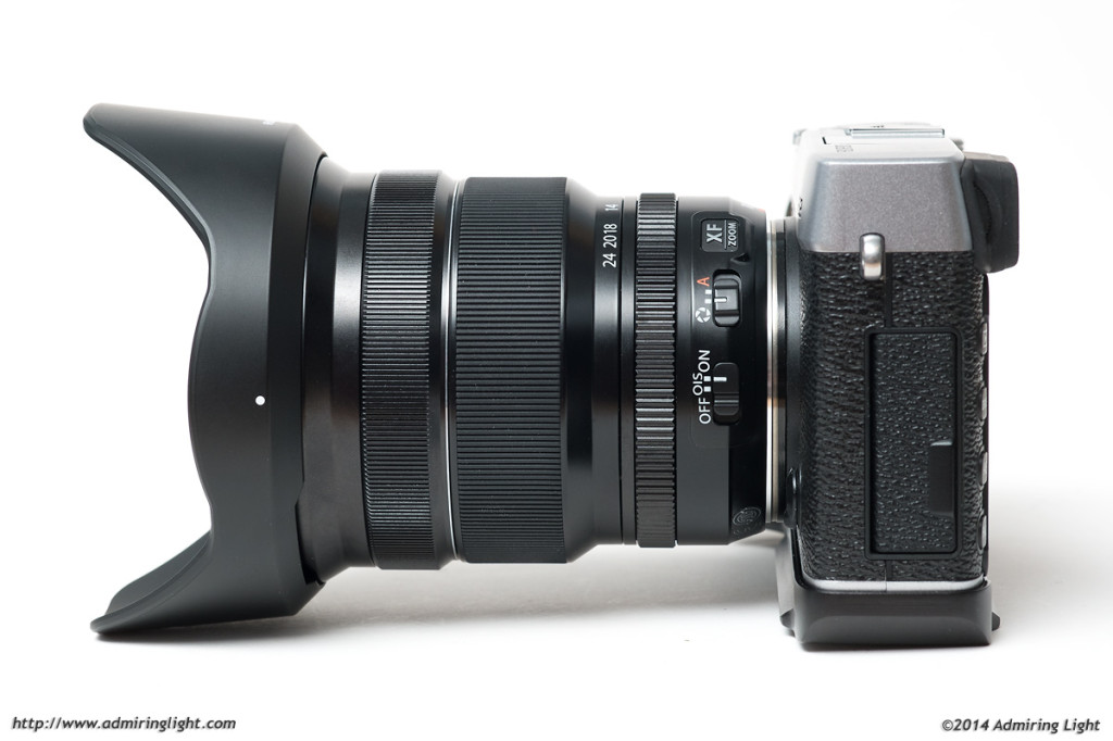 The Fuji 10-24mm is a rather large mirrorless lens