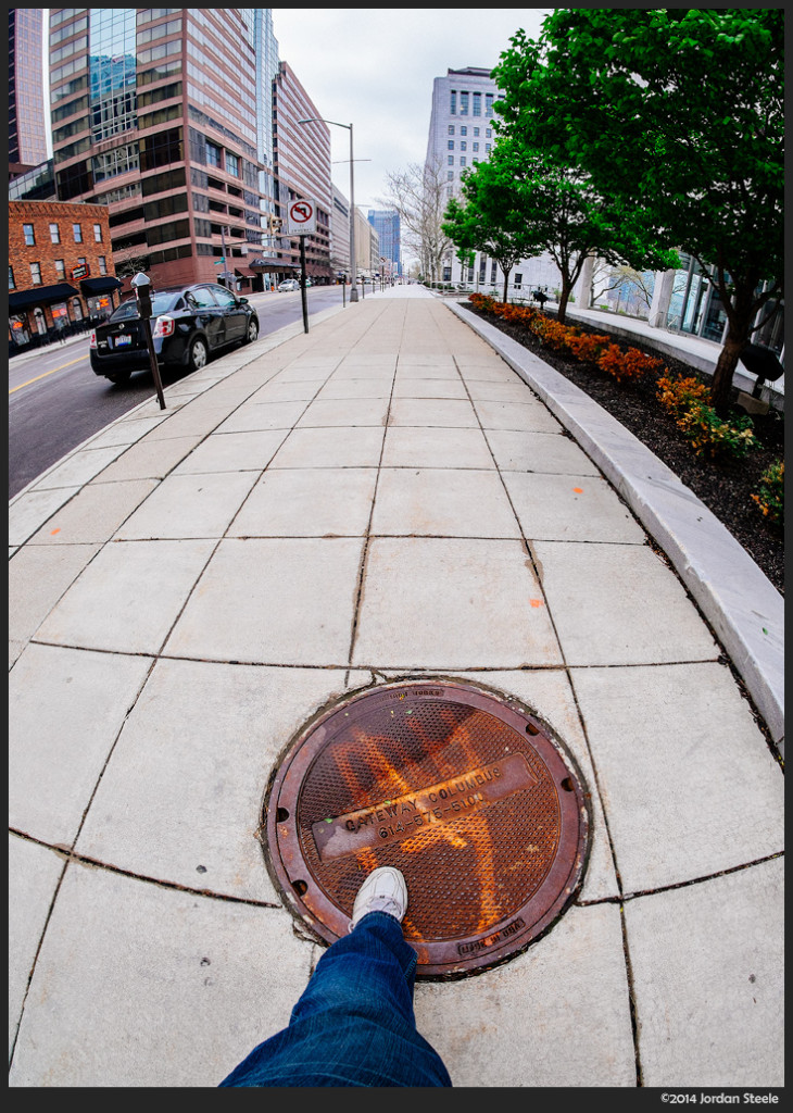 Walking the Gateway - Fujifilm X-E2 with Rokinon 8mm f/2.8 UMC Fisheye II