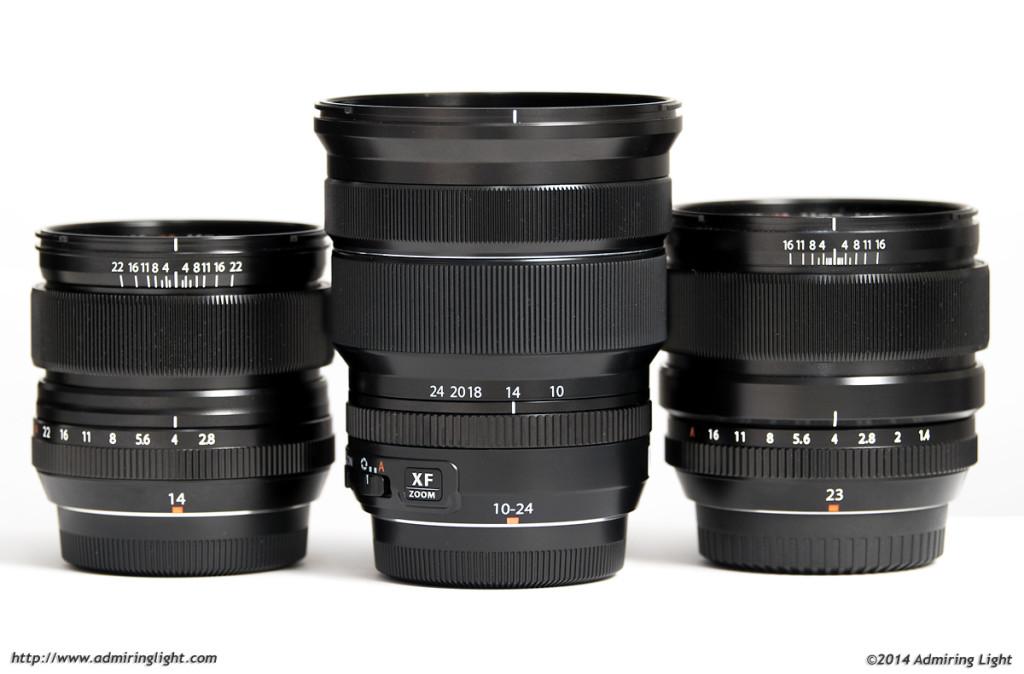 Fuji 14mm f/2.8, Fuji 10-24mm f/4, Fuji 23mm f/1.4