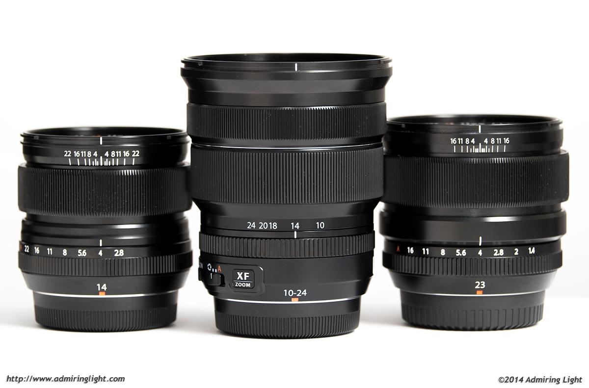Fuji 10-24mm vs Fuji 14mm f/2.8 and Fuji 23mm f/1.4