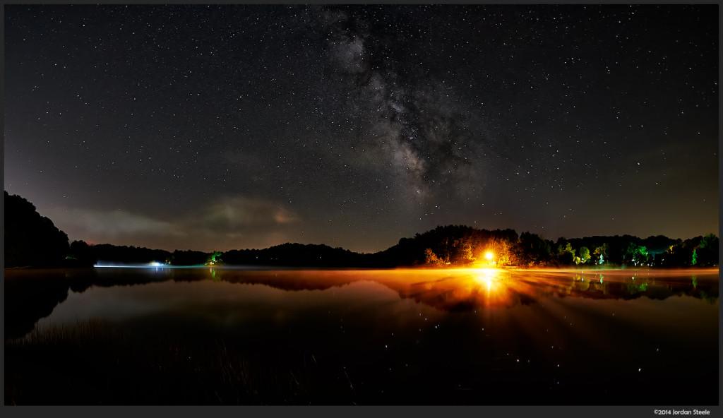 Milky Way - Lake Logan, OH - Fuifilm X-T1 with Rokinon 8mm f/2.8 Fisheye II @ ISO 1250, f/2.8, 30s