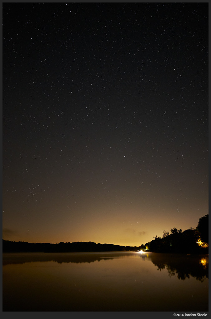 Columbus Glow, Lake Logan, OH - Fujifilm X-T1 with Fujinon XF 14mm f/2.8 @ ISO 800, f/2.8, 30s