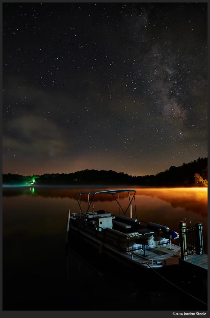 Boat - Lake Logan, OH - Fujifilm X-T1 with Fujinon XF 14mm f/2.8 @ ISO 1600, f/2.8, 20s