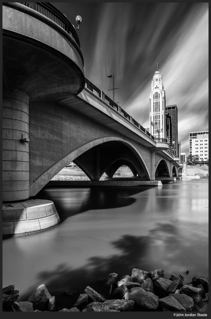 Broad Street Bridge, Columbus, OH - Fujifilm X-E2 with Fujinon XF 14mm f/2.8 @ f/22, 3 minutes 30 seconds