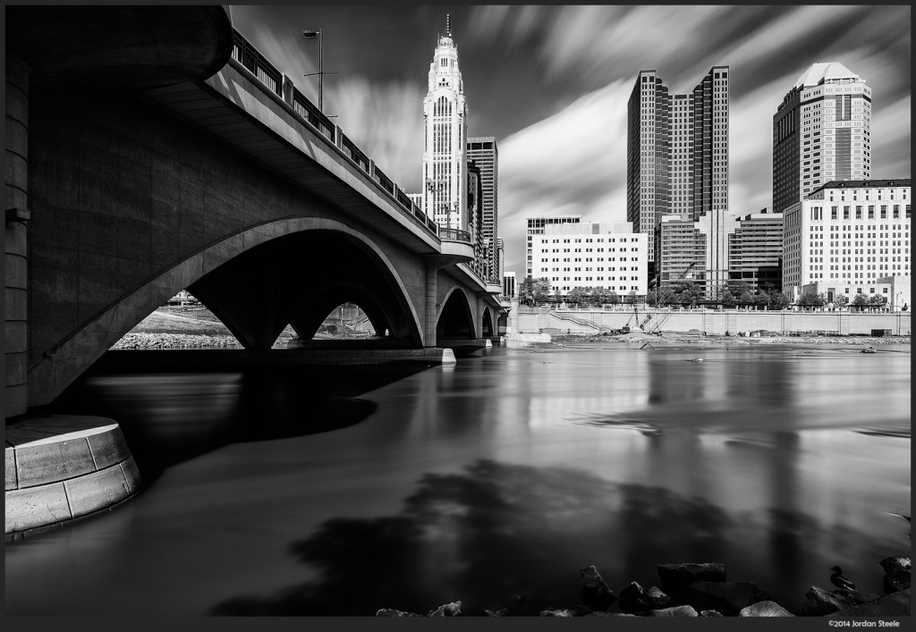 Columbus, OH - Fujifilm X-E2 with Fujinon XF 14mm f/2.8, ND1000+ND8 @ f/16, 2 minutes 5 seconds
